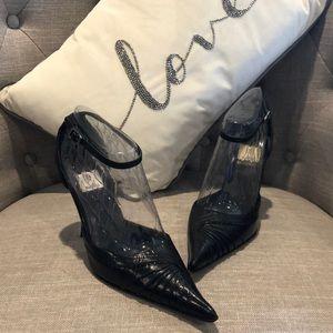 Bakers Rita Pointed Toe Black Leather Heel